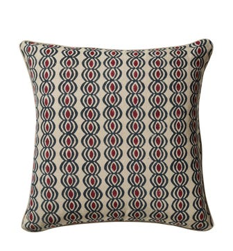 Zalifre Cushion Cover - Petrol/Red