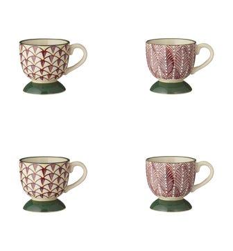 Zellige Espresso Cups Set of 4 - Purple/Green