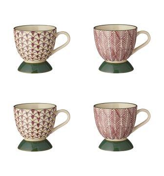 Zellige Mugs Set of 4 - Purple / Green