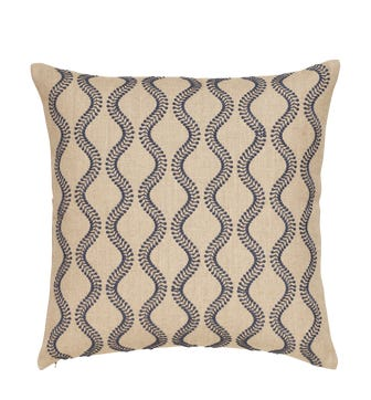 Zostera Pillow Cover 51cmsq - Blue