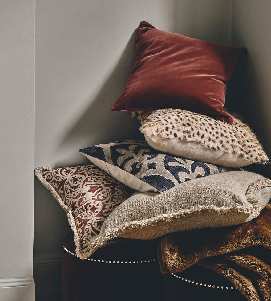 How to add color with pillows