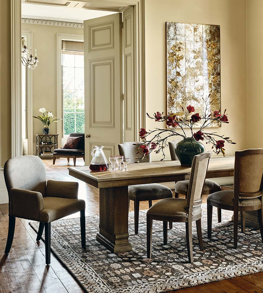 Country house dining table and chairs