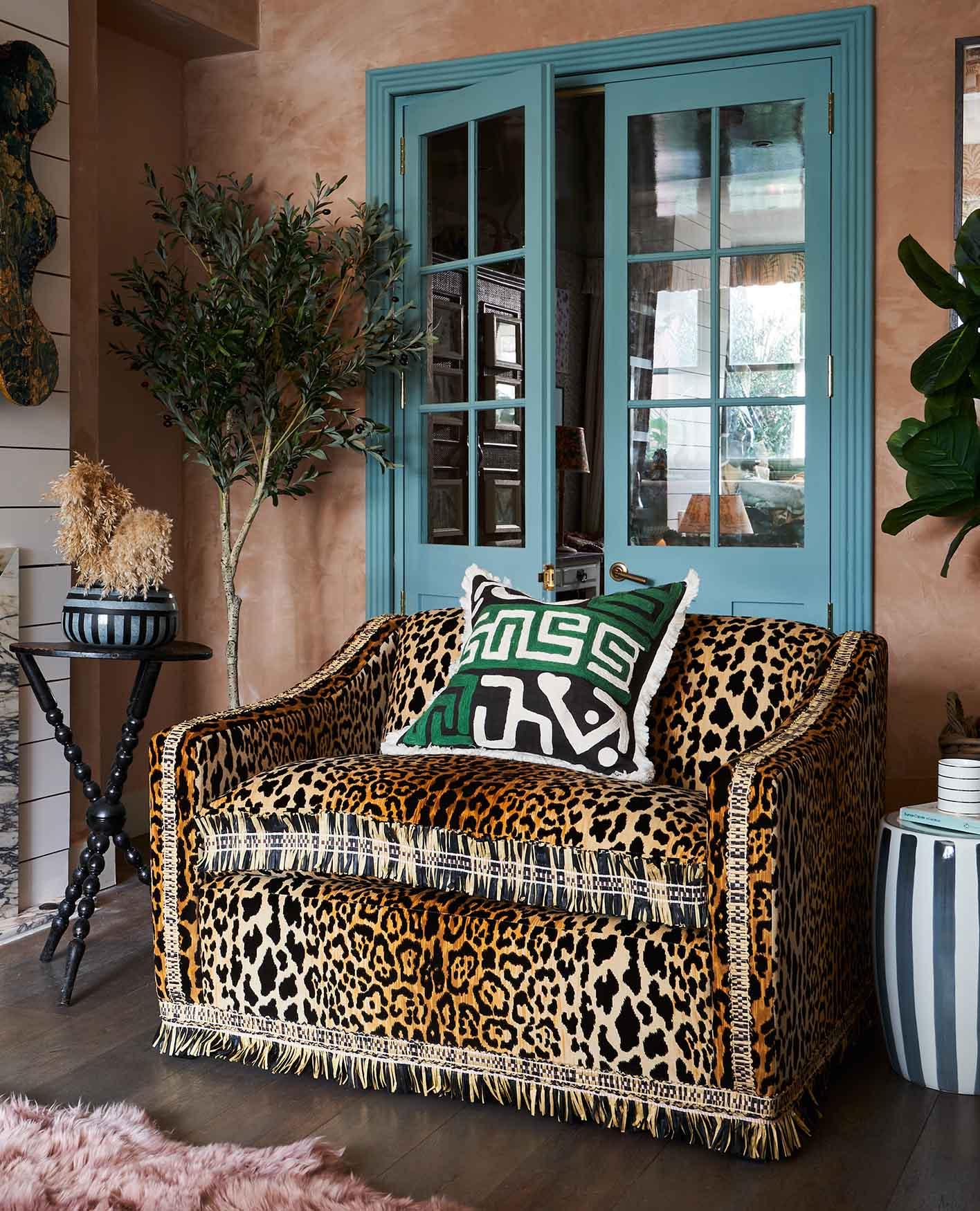 Leopard print Tailored by OKA sofa
