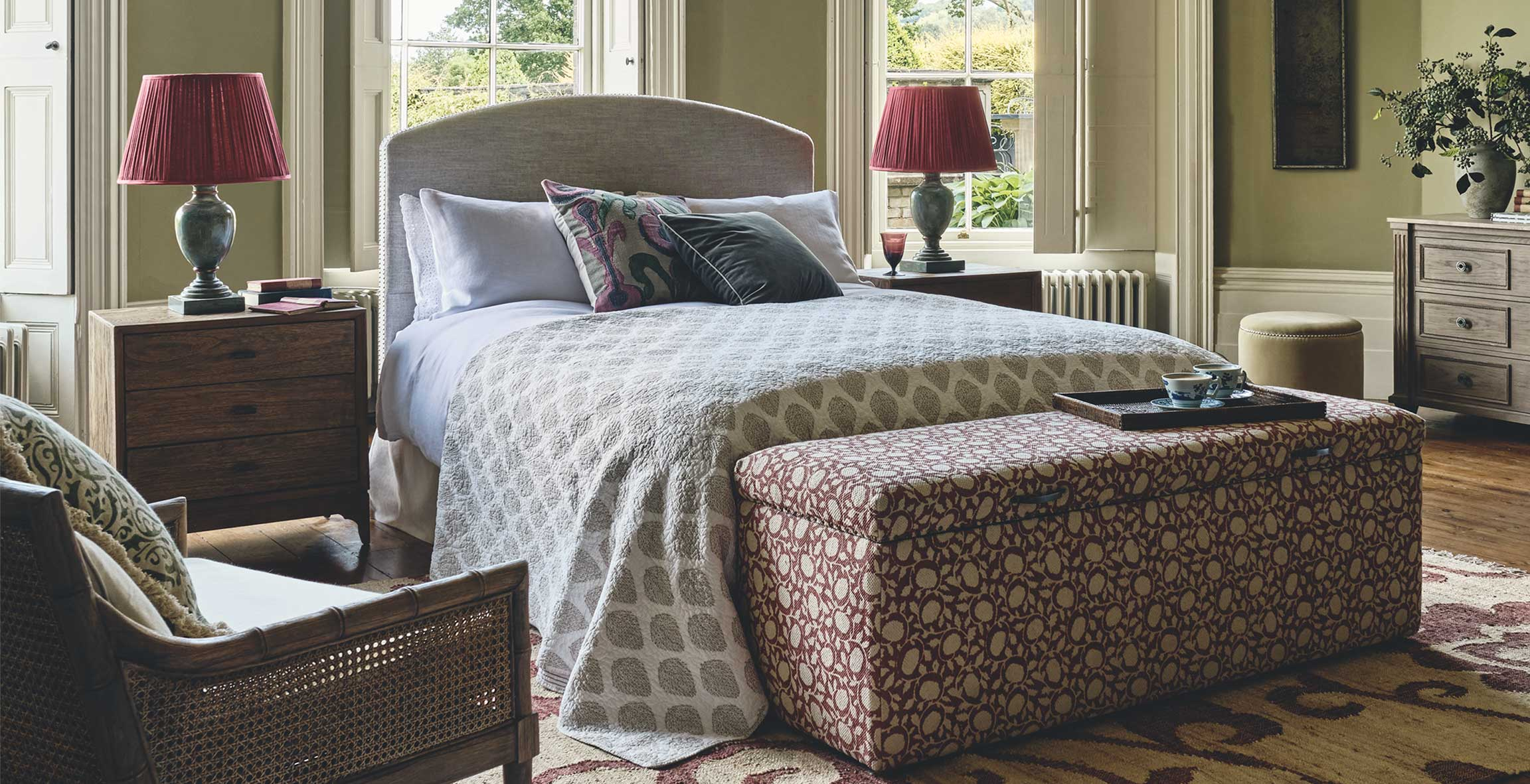 A country house bedroom
