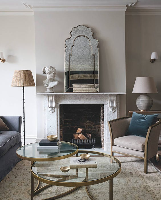 A calming, contemporary sitting room decorated in neutral colours